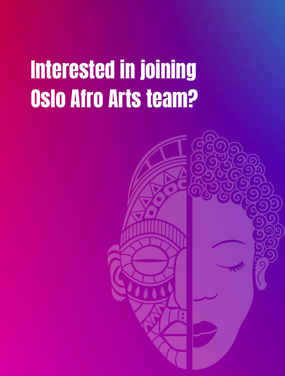 Join Afro Arts management team